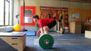 clean pulls 5 x 170 kg