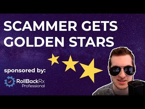 Scammer Gets Gold Stars For Each