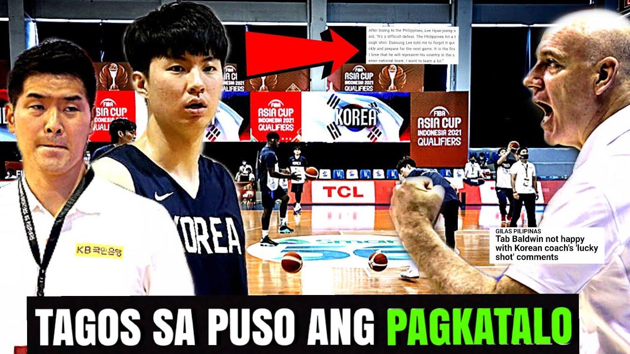 LEE hyun jun AYAW o Nahirapan TANGGAPIN Ang PAGKATALO sa gilas pilipinas   Coach tab Bwelta !