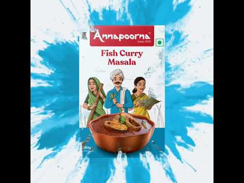 Annapoorna Fish Curry Masala - Unveiling the new packaging