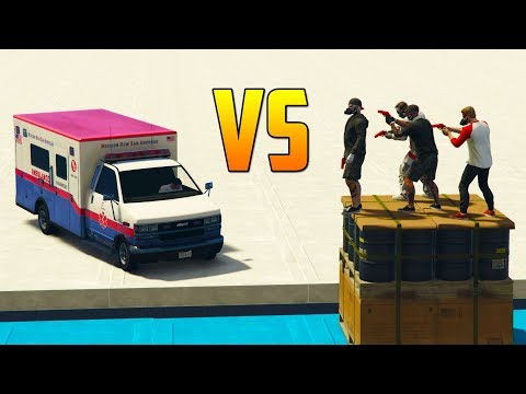 CORRE O TE ATROPELLO! AMBULANCIAS!! - GTA V ONLINE - GTA 5 ONLINE