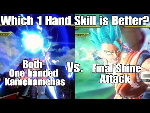 Xenoverse 2 Skill Test! Final Shine Vs. Both One Handed Kamehameha Variations!