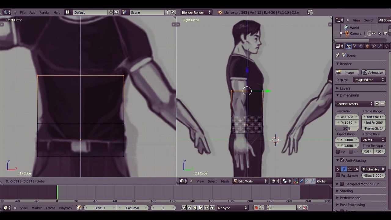 Blender 2 6 Character Modeling Tutorial : Blender d basic character speed modeling youtube