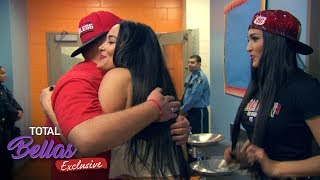 The Bella Army lines up after the pep rally to meet Brie and Nikki! - Total Bellas Exclusive