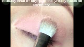 Дневной нежный розово-коричневый макияж глаз пошаговый видео-урок как сделать макияж