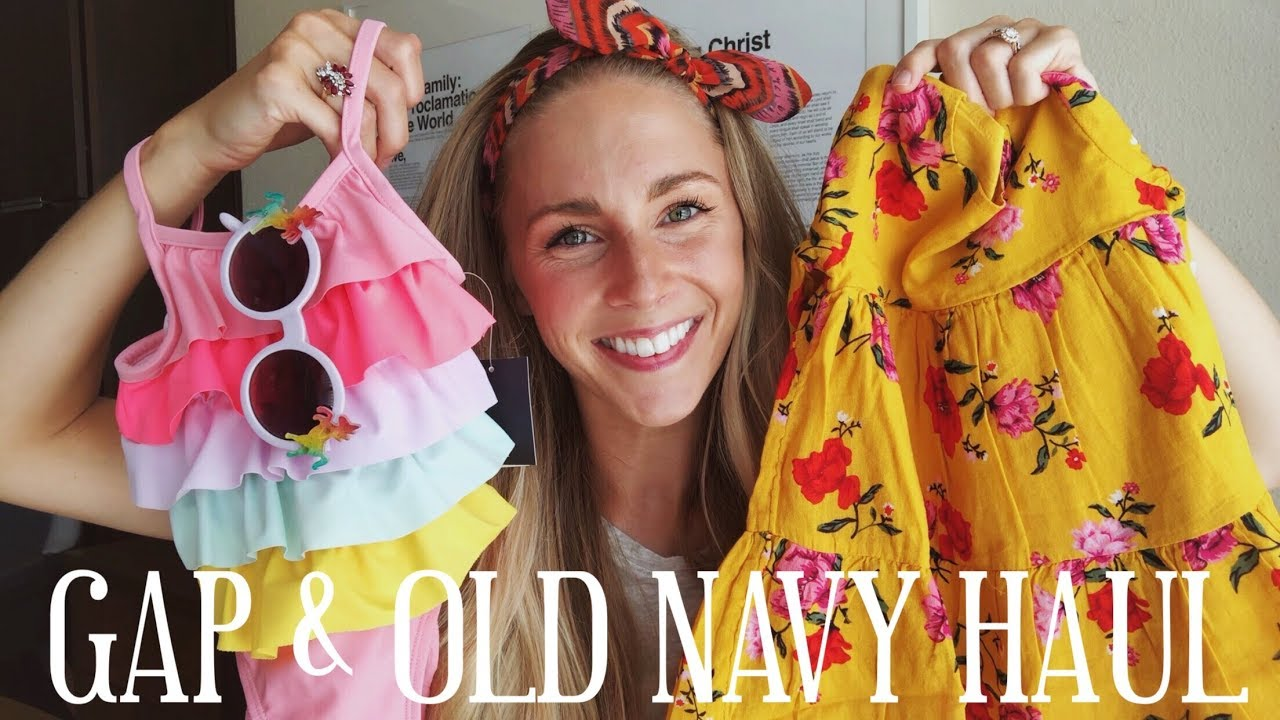 e52487aef030 BABY GIRL CLOTHING HAUL | GAP & OLD NAVY - YouTube
