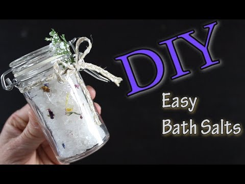 DIY Easy Bath Salts / How To Make Bath Salts