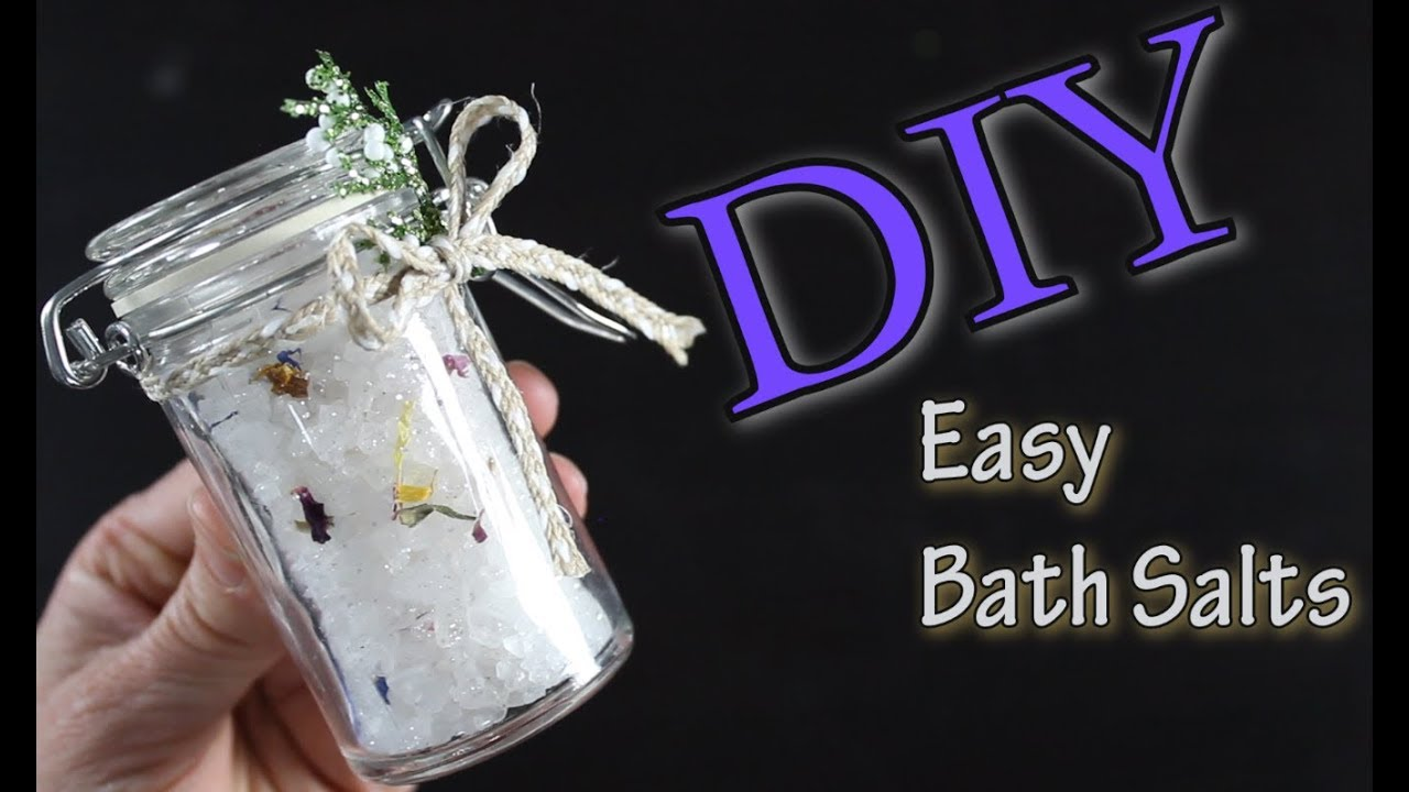 DIY Easy Bath Salts / How To Make Bath Salts