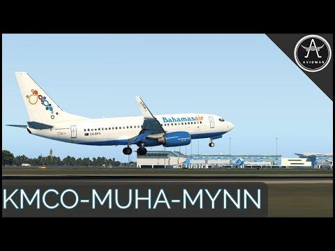 X-Crafts E195 New FMOD + Ultimate 737   KMCO ✈ MUHA ✈ MYNN   ASXP + Ortho4XP + XVision [XP11]