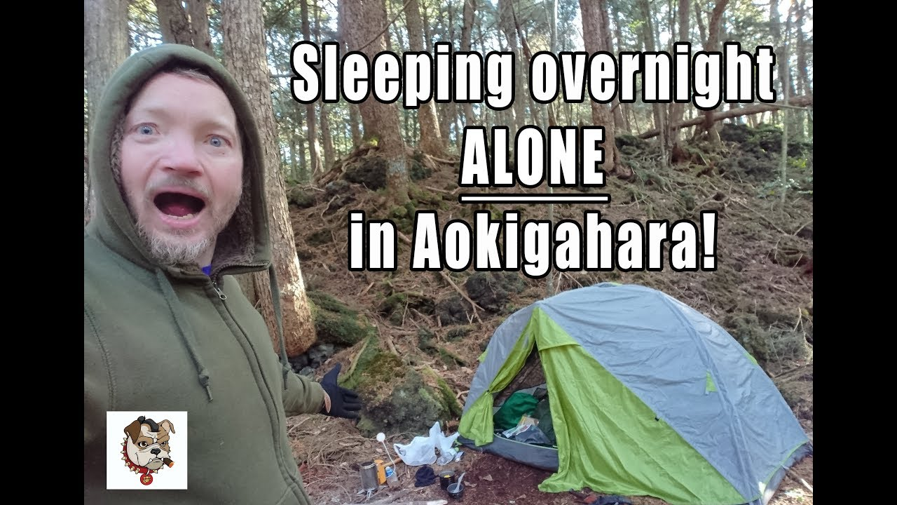 Sleeping overnight ALONE in Aokigahara forest!