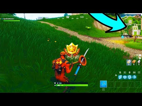 """""""Search Between Movie Titles"""" Location Fortnite Week 10 Challenge Guide!"""