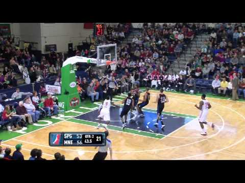 NBA D-League Highlights: Springfield Armor 107, Maine Red Claws 116, 2013-1-12