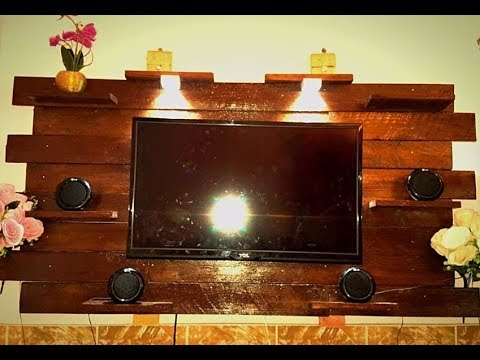 how to make wall mounted tv stand