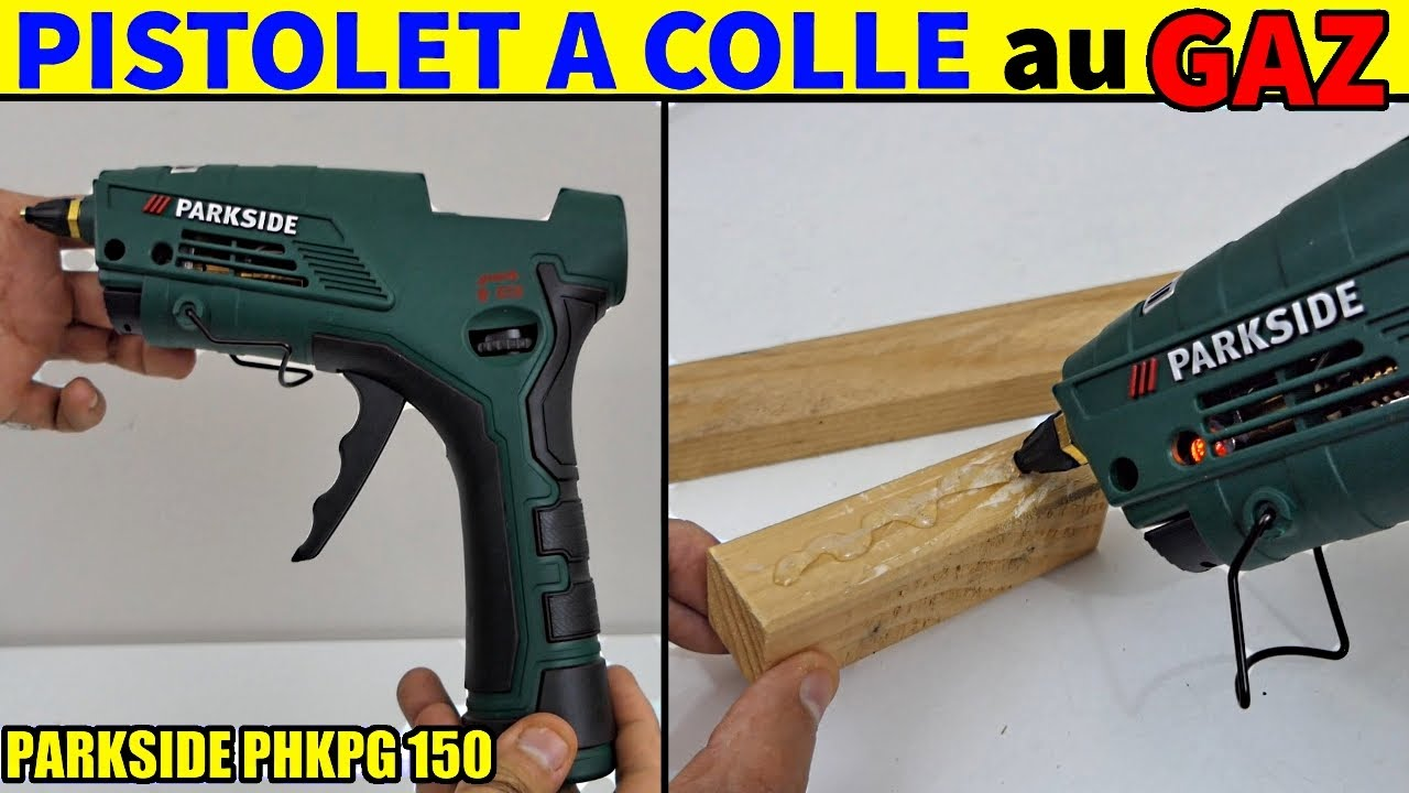 pistolet colle au gaz lidl parkside phkpg 150 gas hot glue gun gas heissklebepistole youtube. Black Bedroom Furniture Sets. Home Design Ideas