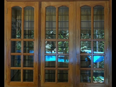 Wood window frame design images for Window glass design in kerala