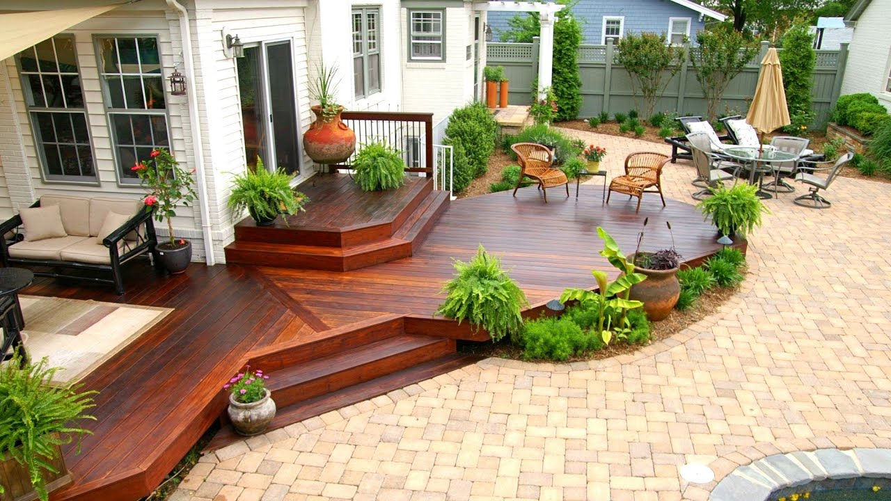 Amazing wood terraces adjacent to the house and outside in the backyard! 33 ideas for inspiration!
