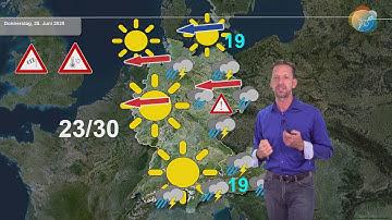 Aktuelle Wettervorhersage 24. Juni 2020: Im Osten kommt der Kaltlufttropfen, danach wird's schwül.