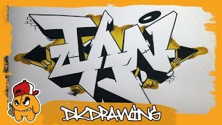 How to draw graffiti names - Ian #28