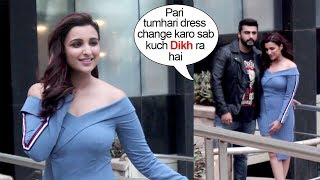 Arjun Kapoor SAVES Parineeti Chopra From EMBARRASSING Moment At Namaste England Promotions