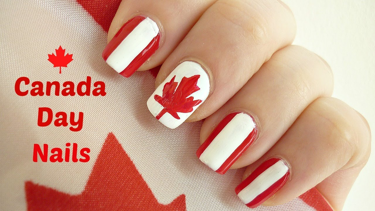 Canada Day Nail Art! - YouTube