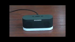 Sylvania Clear Voice Rechargeable Mini Wireless Stereo Speaker with TV Adapter Kit and Mood Lighting