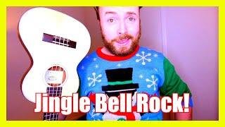JINGLE BELL ROCK - CHRISTMAS UKULELE TUTORIAL! - rock and roll music ukulele chords
