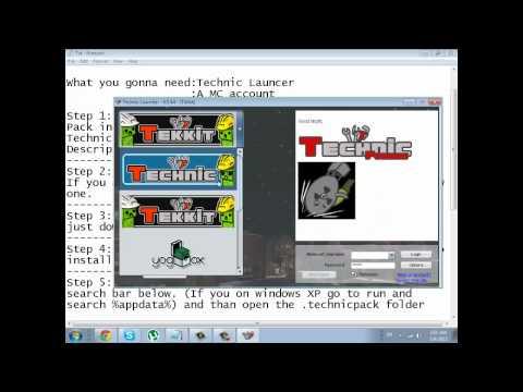 How to install Tekkit/Technic into minecraft for crack/premium (Easy way)