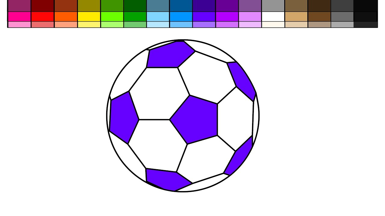 Learn Colors for Kids and Color Soccer Coloring Pages  YouTube