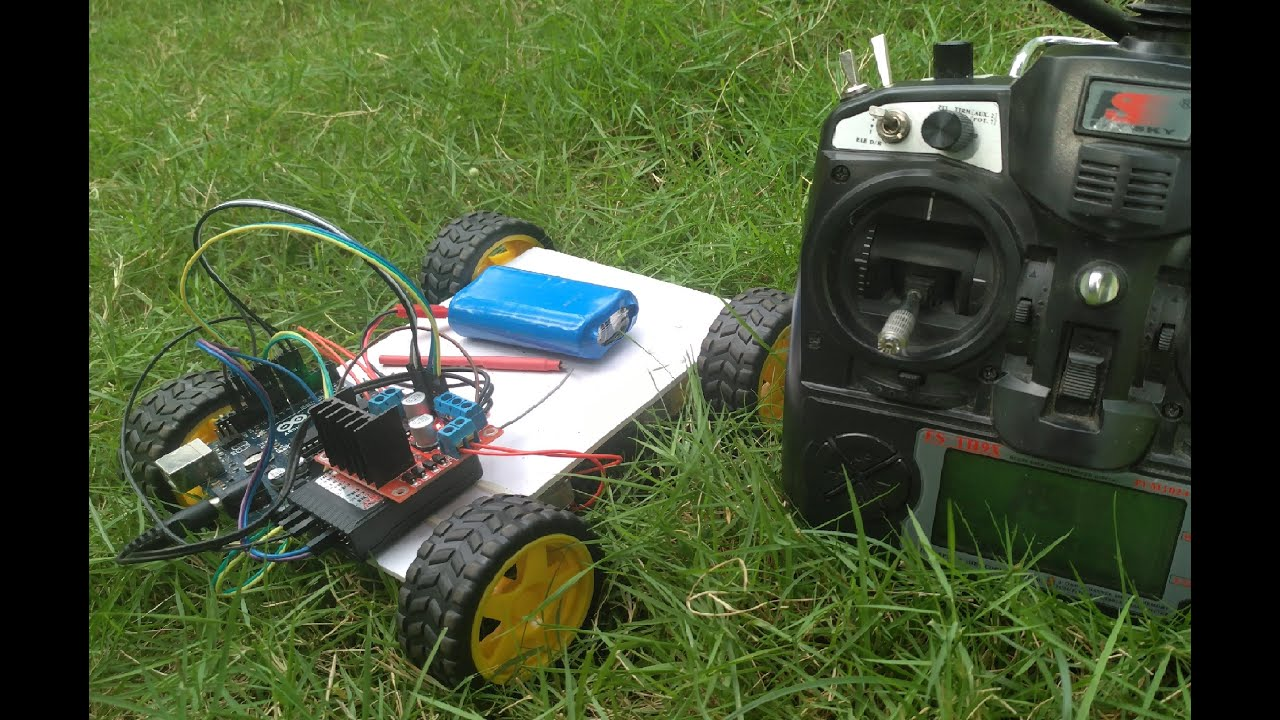 Arduino rc car wd with differential steering l n