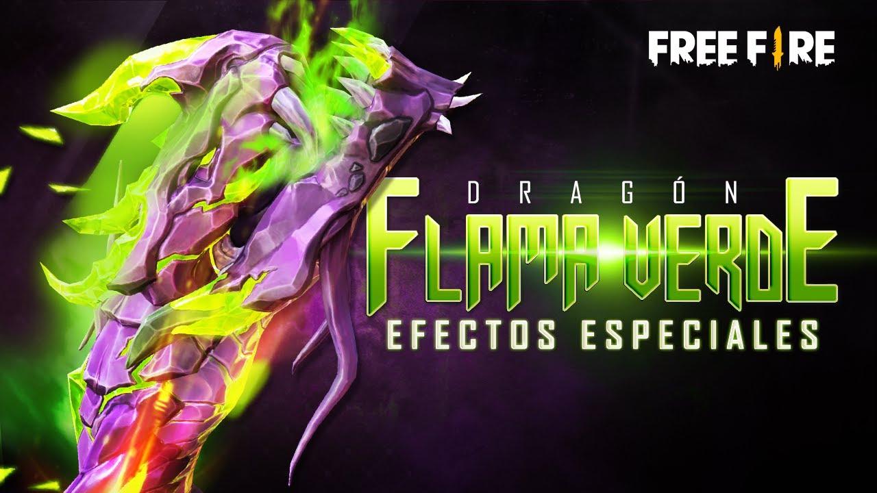 ¡NUEVA ARMA EVOLUTIVA CON EFECTOS ESPECIALES! 🐲 Dragón Flama Verde 🔥   Garena Free Fire
