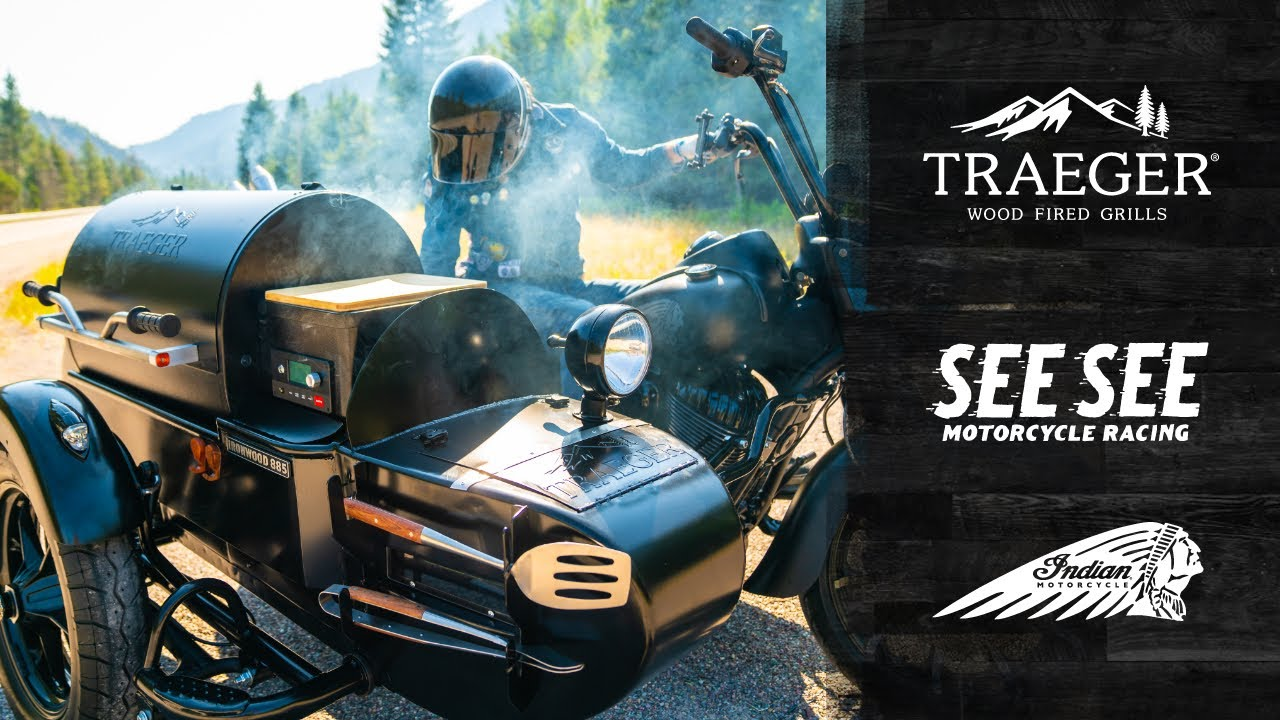 A BBQ GRILL SIDECAR?? Indian Springfield Darkhorse x Traeger Ironwood 885  by See See Motorcycles