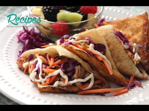 Grilled Chicken Wonton Tacos – Better than Applebees! – I Heart Recipes