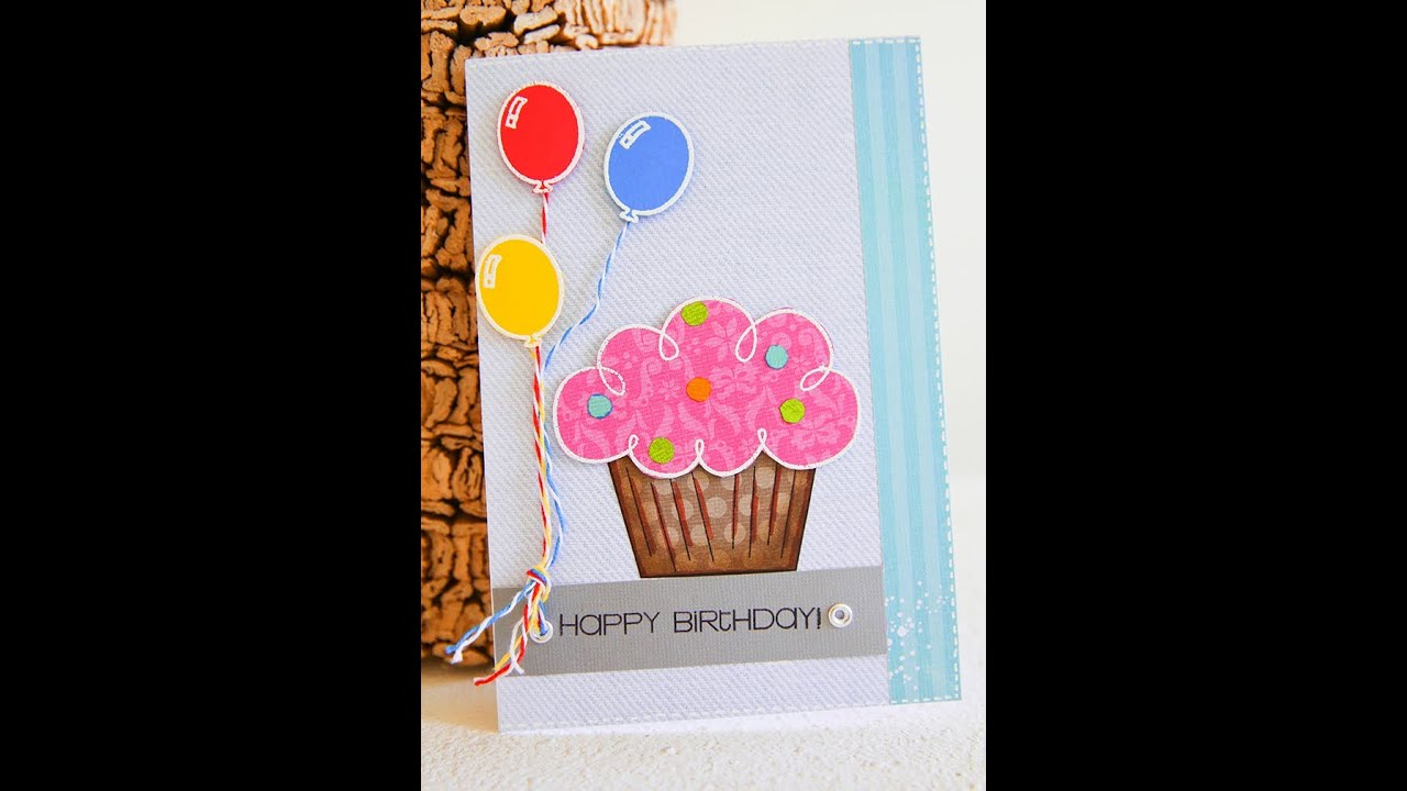 Card Making Craft Ideas Part - 32: Handmade Birthday Card For Young Kid. - YouTube