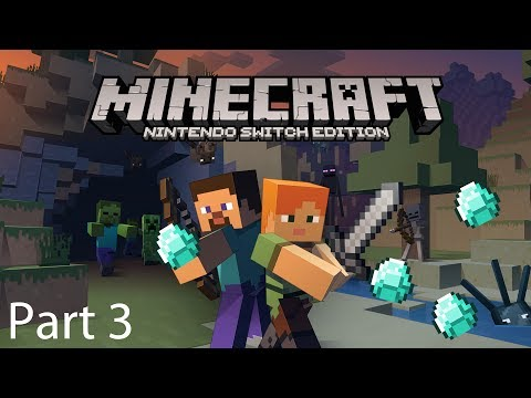 Minecraft Nintendo Switch Survival Gameplay Guide Part 3: Diamonds, Lava & People