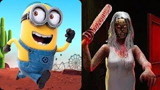 Despicable Me Minion Rush vs Scary Granny Escape Game
