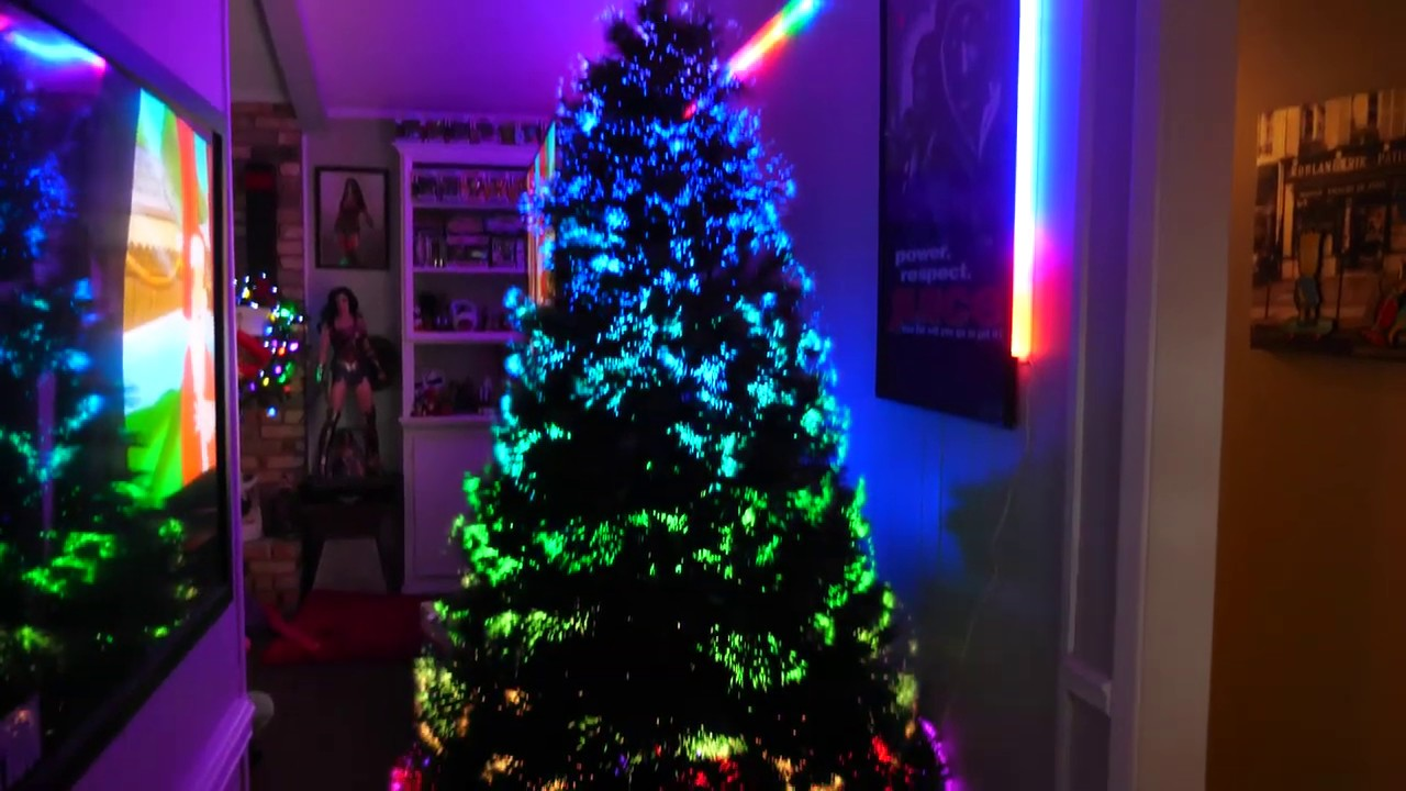 EPIC RGB Fiber Optic Christmas Tree! The Northern Lights