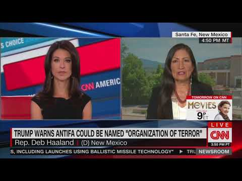 Democratic congresswoman calls antifa 'peaceful protesters'