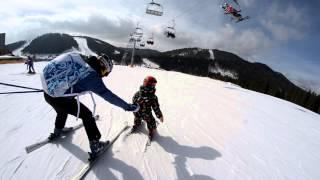 3 марта 2013 г. Буковель. Внук Александр на горных лыжах