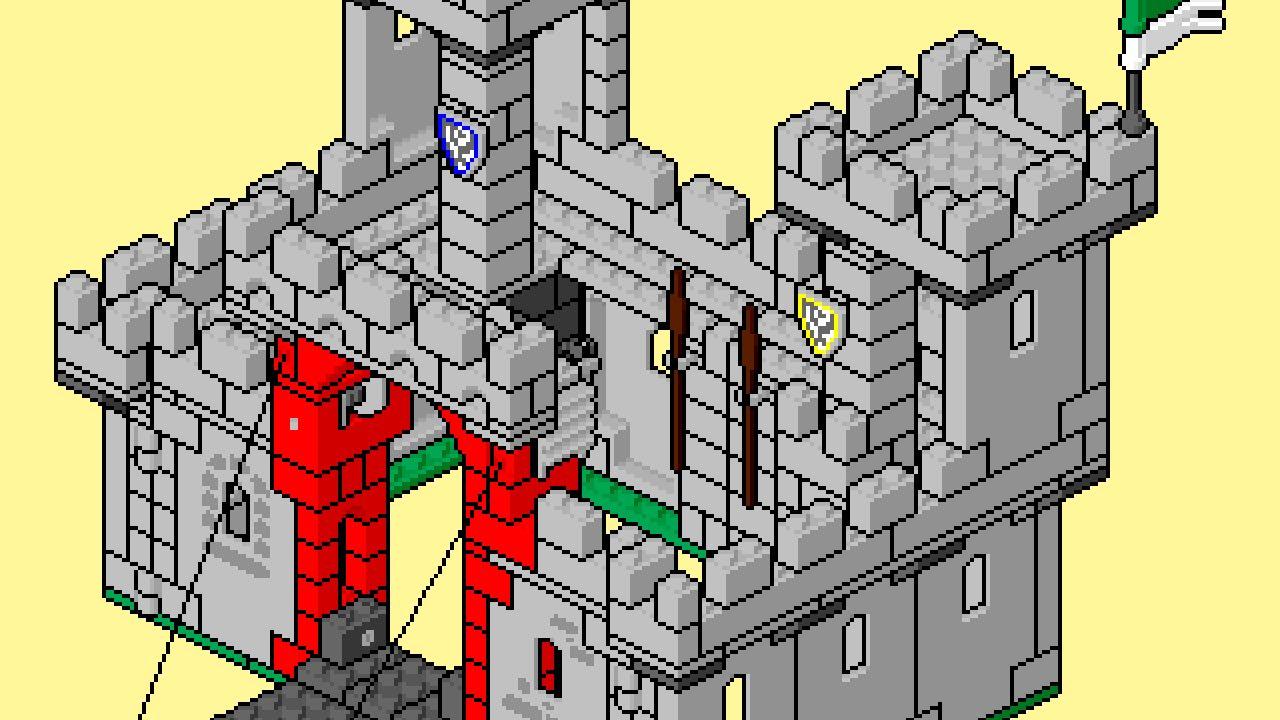 Lego Instructions Pixel Art Movie 6073 Knights Castle Youtube