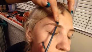 Коррекция брови пинцетом (практика)