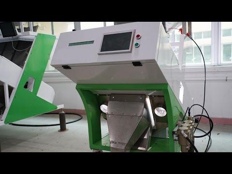 Two Chutes Color Sorting Equipment Rice Tea Sunflower Seeds Grains Sorter рис сортировочная машина
