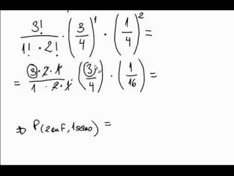 cálculo binomial en genética - YouTube