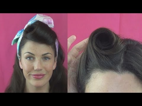 How To Roll Victory Rolls  Different Ways Vintagious