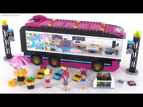 Lego Friends Pop Star Tour Bus Review Set 41106 Youtube