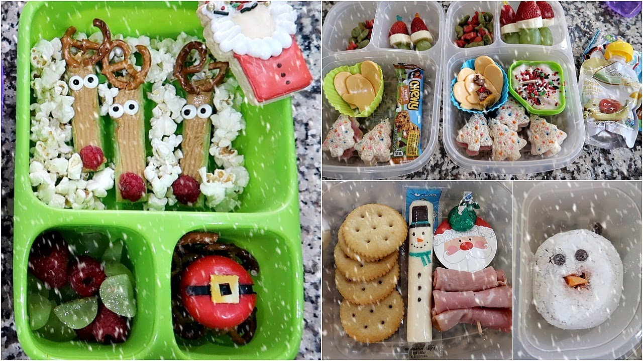 School Lunch Ideas Christmas Lunches