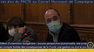 ⭕️ Débat d'orientation budgétaire à Compiègne