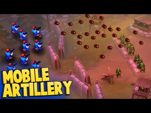 UBER ARTILLERY Strategy Is Unstoppable!  (Guns Up Multiplayer Gameplay)