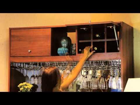 Mueble de bar c mo decorar tu mueble de bar youtube - Como decorar un bar ...