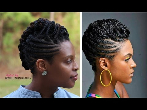 Styled By Westndnbeauty Twist Roll Braid Natural Hair Updo Tutorial