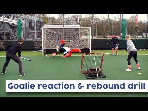Goalkeeper Rebound & Reaction Drill   Hockey Heroes TV